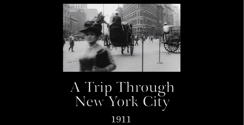 1911 – A Trip Through New York City