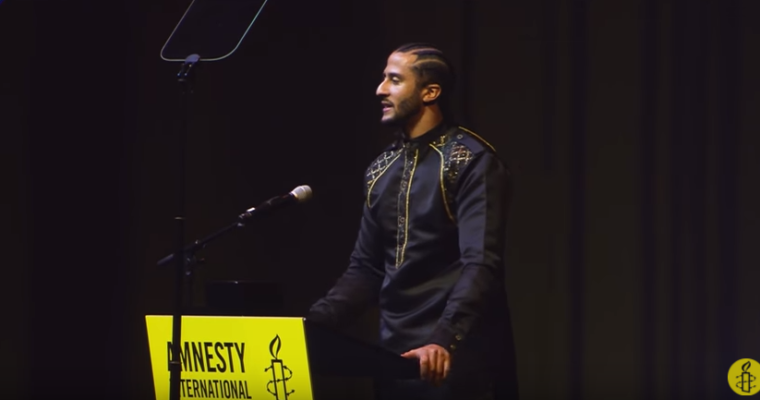 Colin Kaepernick, Amnesty International Ambassador of Conscience