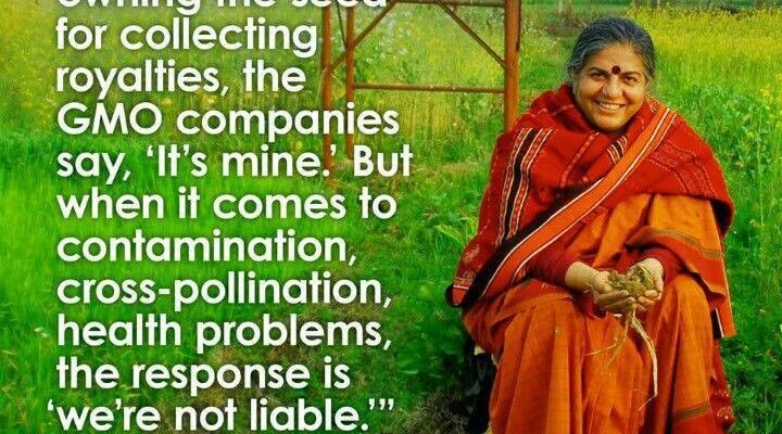 Vandana Shiva talks about water and food
